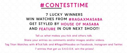 Titan World Raga and Masaba Contest