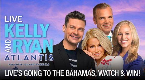 Kelly & Ryan Live Bahamas Sweepstakes