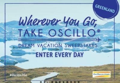 Oscillo Dream Vacation Sweepstakes
