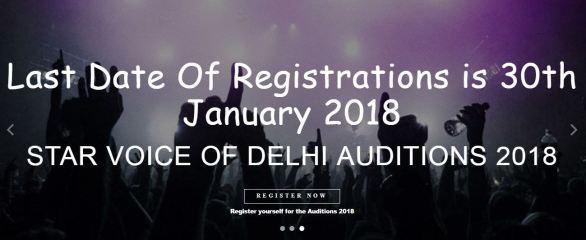 Star Voice of Delhi Singing Auditions