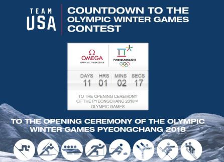 Team USA Countdown to Winter Olympics Sweepstakes