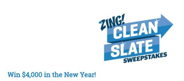 Zing Clean Slate Sweepstakes