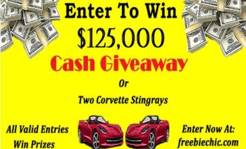 Corvette Stingrays and Cash Giveaway