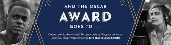 PopSugar Oscar Ballot Sweepstakes