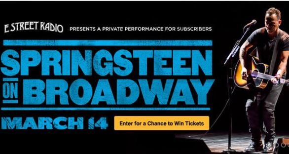 SiriusXM Springsteen on Broadway Sweepstakes