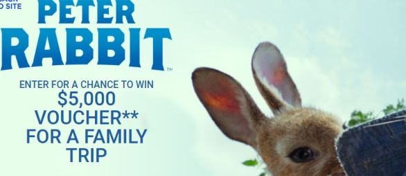 Sony Pictures Peter Rabbit Sweepstakes