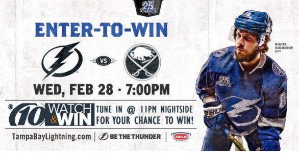 WTSP Lightning Hockey February Contest