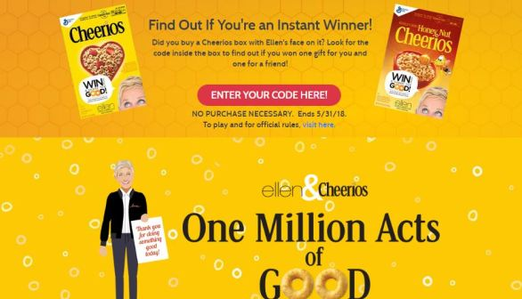 Cheerios One Million Acts of Good