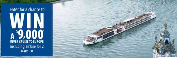 CruiseShipCenters Legendary Rivers Sweepstakes