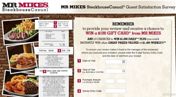 MR MIKES Guest Satisfaction Survey
