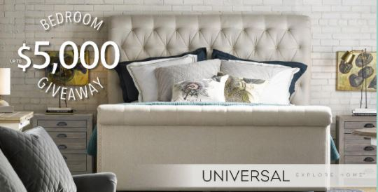 Universal Furniture $5000 Bedroom Giveaway Sweepstakes   Offers