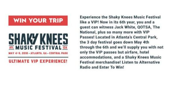 Shaky Knees Music Festival Ultimate VIP Sweepstakes