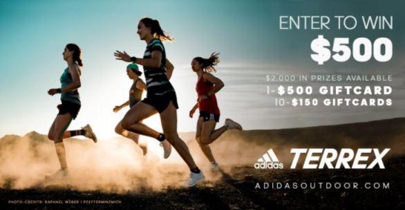 Women's Running Magazine Adidas Terrex Sweepstakes