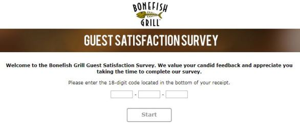 "Bonefish Grill is providing you opportunity to win $1000 cash prize or 1 of 80 $50 Bloomin Brands's gift cards by entering in the Bonefish Grill Customer Satisfaction Survey Sweepstakes 2018 from www.bonefishexperience.com page. To enter Bonefish Grill Guest Satisfaction Survey, candidates needs to visit Bonefish Grill to take breakfast, lunch, or dinner and collect 18 Digit Bonefish Grill Survey Code. After collecting the Code, just visit entry page to complete survey questions with valid Code. <h2 style=""text-align: center;""><strong><span style=""color: #ff0000;""><span style=""text-decoration: underline;"">Bonefish Grill Customer Survey Sweepstakes 2018 - Win $1000 Cash</span></span></strong></h2> <strong>Eligibility:</strong> The Bonefishexperience.com Survey Sweepstakes is open to U.S. residents of the States of Kentucky and Indiana and who are 18 years of age and older. <strong>Duration:</strong> The Bonefish Experience Sweepstakes begins at 12:00 a.m. (C.T.) on January 01, 2018 and ends at 11:59 p.m. (C.T.) on December 31, 2018. <table border=""4""> <tbody> <tr> </tr> <tr> <th><strong><a href=""https://www.bonefishexperience.com/"" target=""_blank"" rel=""noopener"">Online Entry Page</a></strong></th> </tr> <tr> <th><strong><a href=""https://www.bonefishexperience.com/PContent.aspx?Page=Rules&c=394503&AspxAutoDetectCookieSupport=1"" target=""_blank"" rel=""noopener"">Official Rules</a></strong></th> </tr> <tr> <th><strong><a href=""https://www.facebook.com/Offerscontest/"" target=""_blank"" rel=""noopener"">Join Our Facebook Page</a></strong></th> </tr> </tbody> </table> <strong>Prizes: </strong> (12) Grand Prize (1 prize per month): $1000 cash (960) First Prizes (80 prize per month): $50 Bloomin' Brands Gift Card <p style=""text-align: left;""><strong>Also, Participate</strong>: <strong><a href=""http://www.offerscontest.com/sweepstakes/my-wawa-customer-satisfaction-survey- sweepstakes/"" target=""_blank"" rel=""noopener"">My Wawa Customer Satisfaction Survey Sweepstakes</a></strong></p> To get More Upcoming Updates, Just Like Facebook page and Share Article!!"