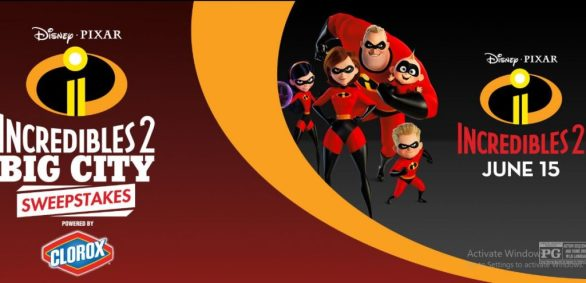 Disney Incredibles 2 Big City Sweepstakes