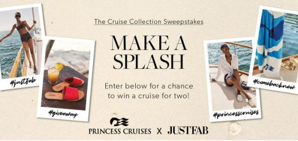 JustFab X Princess Cruises Sweepstakes