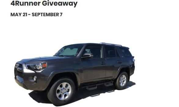 KBC Summer Toyota 4Runner Giveaway