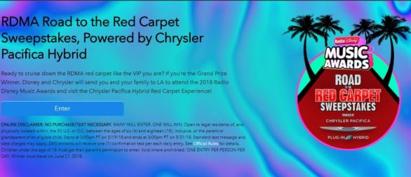 Road To The Red Carpet Sweepstakes