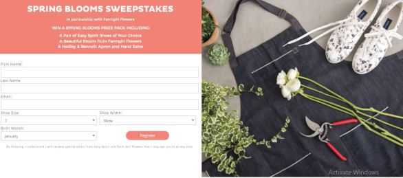 Easy Spirit Spring Blooms Sweepstakes