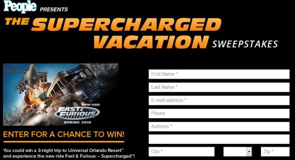 Supercharged Vacation Sweepstakes