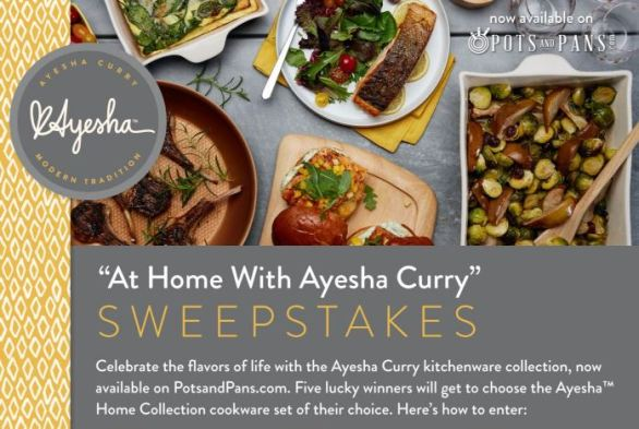 At Home with Ayesha Curry Sweepstakes