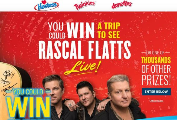 hostess rascal flatts sweepstakes hostess rascal flatts sweepstakes sweetcountrysummer com 3745