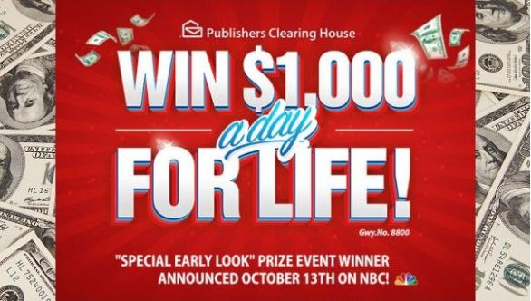 PCH Win $1,000 a Day for Life Sweepstakes - Win $1,000,000