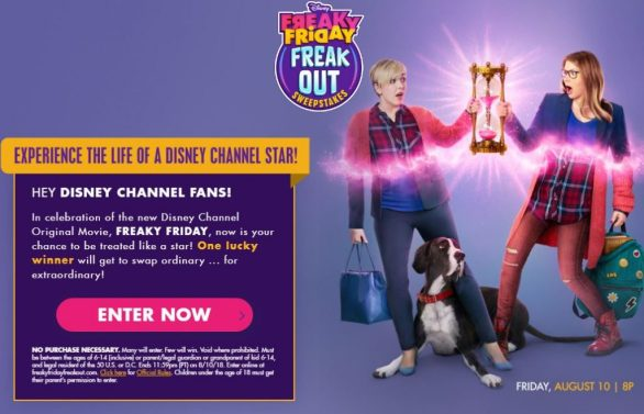 Disney Freaky Friday Freak Out Sweepstakes