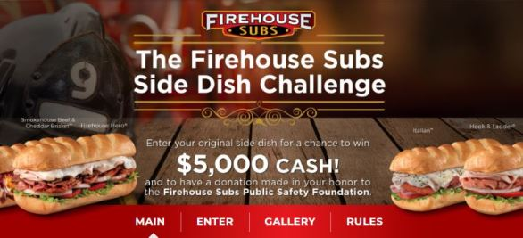 Firehouse Subs Side Dish Challenge