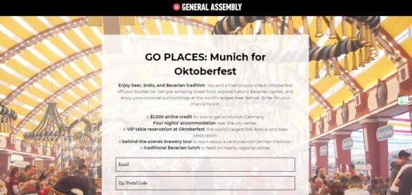 Go Palace Munich for Oktoberfest Sweepstakes
