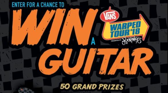 Mutant Guitar Text to Enter Sweepstakes