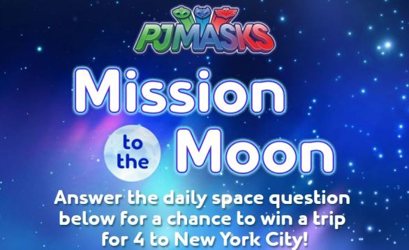 PJMasks Mission to the Moon Sweepstakes