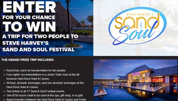 Sand & Soul Festival Sweepstakes