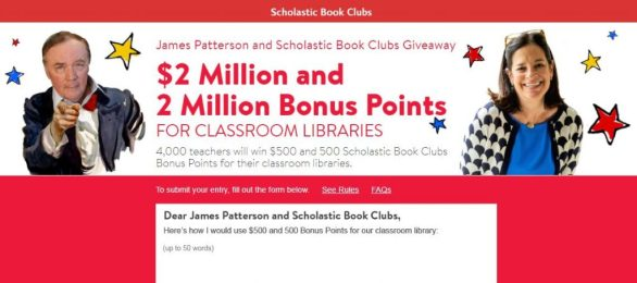 Scholastic James Patterson and Scholastic Book Clubs Giveaway