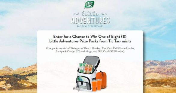 Tic Tac Little Adventures Prize Pack Sweepstakes