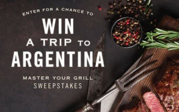 Trapiche Master Your Grill Win A Trip to Argentina Sweepstakes