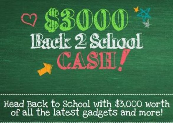 Back 2 School Cash Sweepstakes