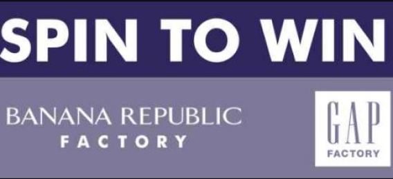Banana Republic & Gap Spin To Win Labor Day Sweepstakes