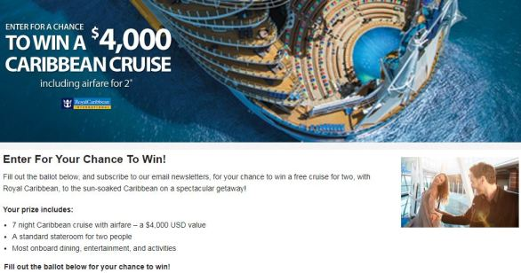 CruiseShipCenters Everywhere Under the Sun Sweepstakes