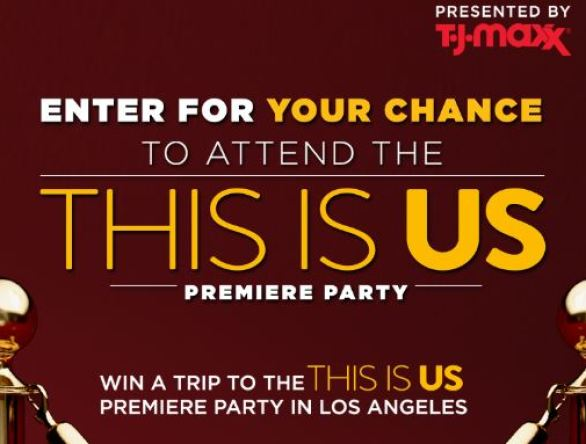 T.J. Maxx and NBC This Is Us Sweepstakes