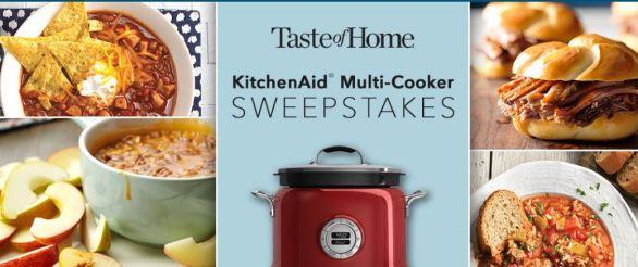 Taste of Home KichenAid Multi Cooker Sweepstakes