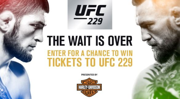 UFC 229 Harley-Davidson Fight Tickets Giveaway