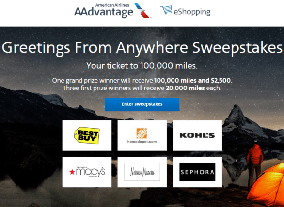 American Airlines Greetings From Anywhere Sweepstakes
