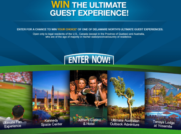 Delaware North Guest Sweepstakes