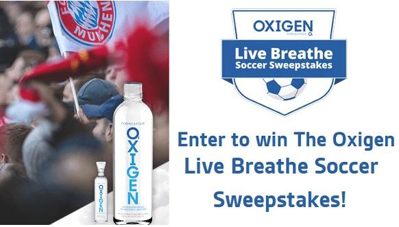 Drink Oxigen Live Breathe Soccer Sweepstakes