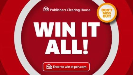 PCH Win It All Sweepstakes - Win $1 Million Cash Prizes