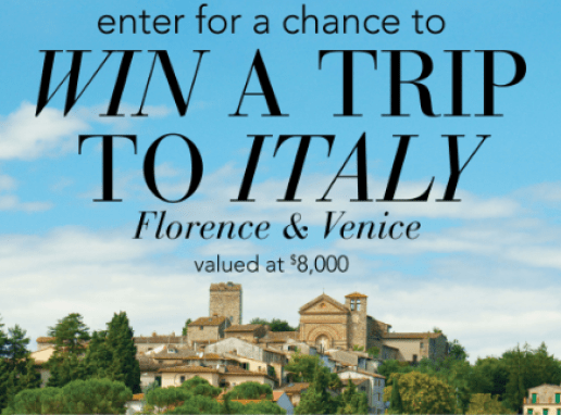 Ross-Simons Win a Trip to Italy Sweepstakes