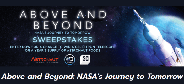 Discovery NASA Above And Beyond Sweepstakes