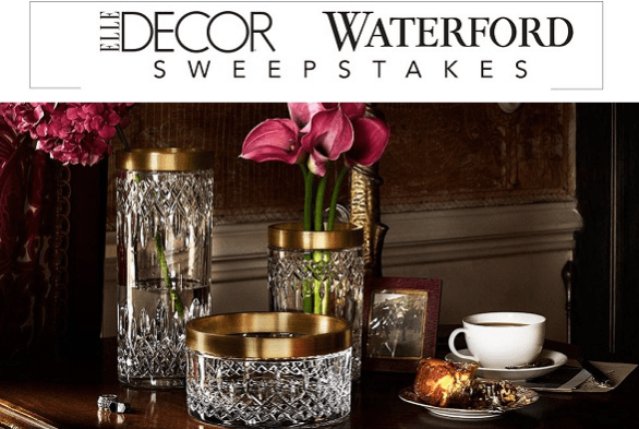 Elle Decor Waterford Sweepstakes