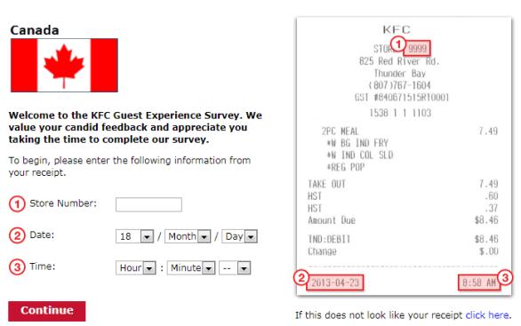 KFC Canada Listen Guest Experience Survey